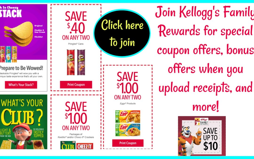 Join Kellogg's Family Rewards today!
