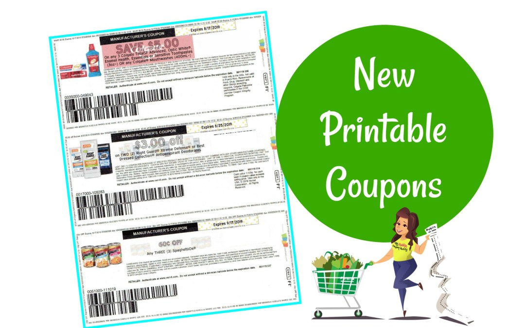 New Printable Coupons $5/3 Colgate, all LD and more!