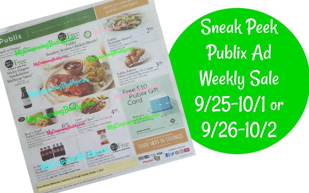 Sneak Peek Publix Ad Weekly Sale 9/25-10/1 or 9/26-10/2