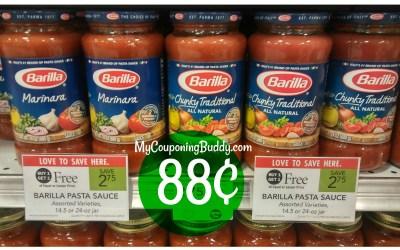 Barilla Pasta Sauce 88¢ at Publix