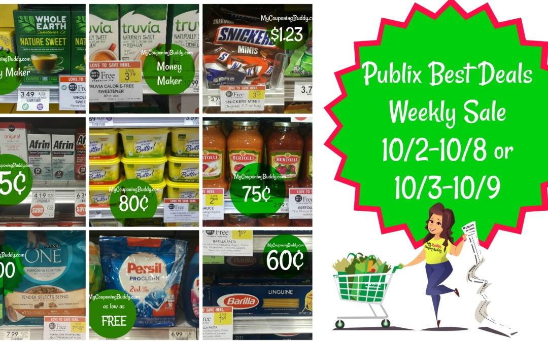Publix Best Deals Weekly Sale 10/2-10/8 or 10/3-10/9