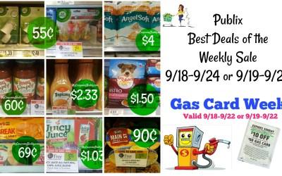Publix Best Deals 9/18-9/24 or 9/19-9/25