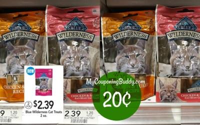 Blue Wilderness Cat Treats 20¢ at Publix