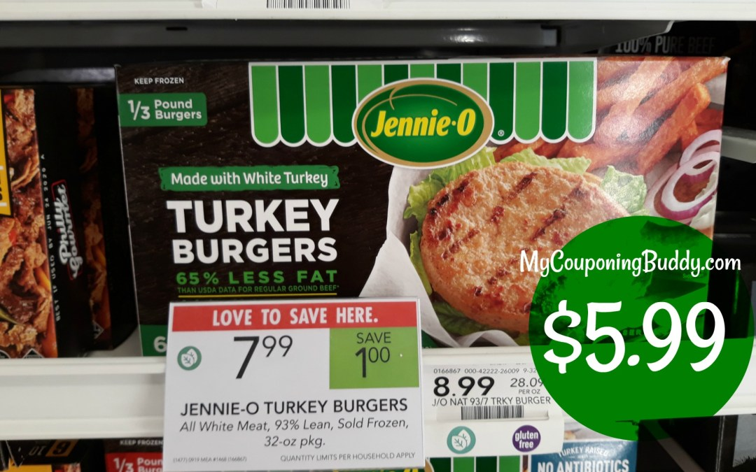 Jennie-O Turkey Burgers $5.99 at Publix
