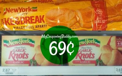 New York Bakery Bread 69¢ at Publix