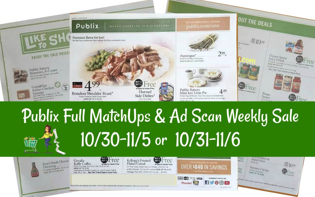 Publix Full Matchups Ad Scan Weekly Sale 10 30 11 5 Or 10 31 11