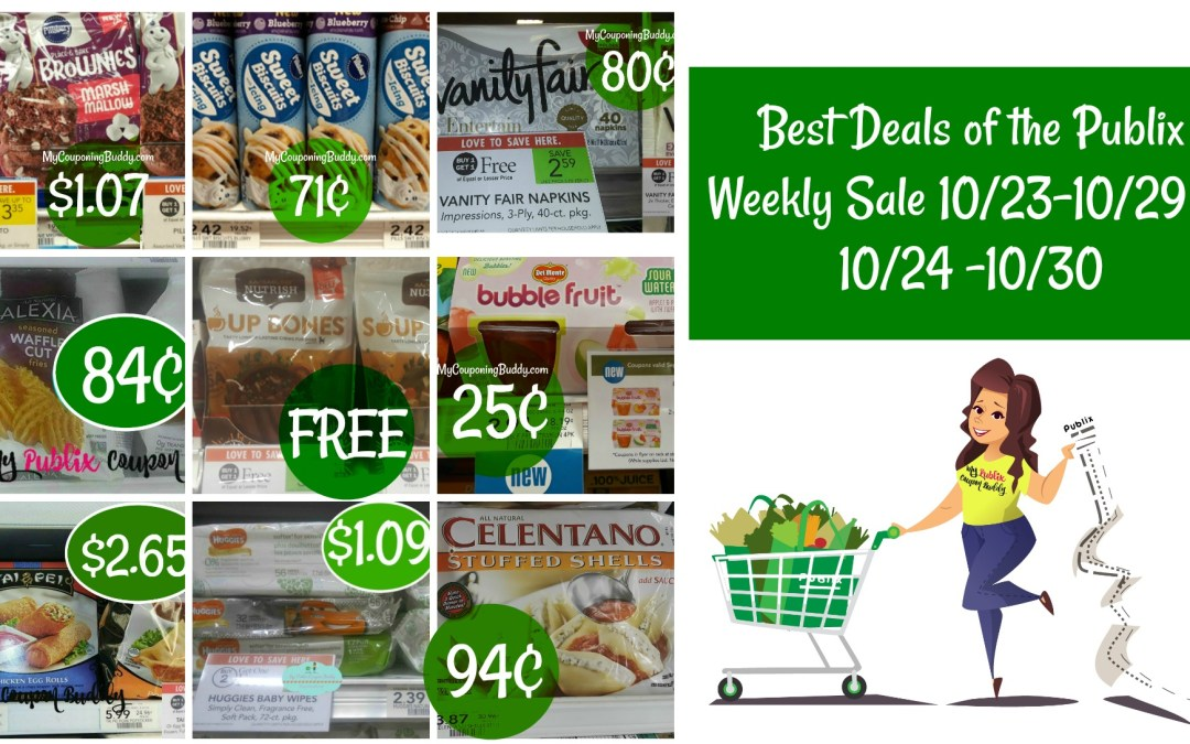 Best Deals of the Publix Weekly Sale 10/23-10/29 or 10/24 -10/30