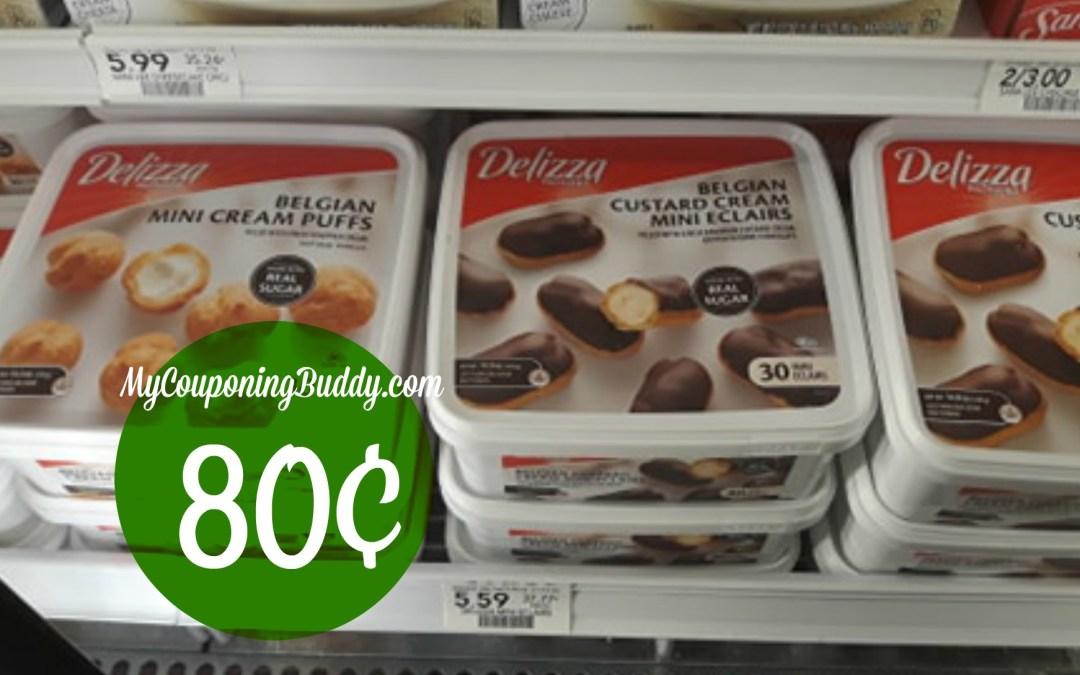 Delizza Belgian Mini Eclairs or Cream Puffs 80¢ each