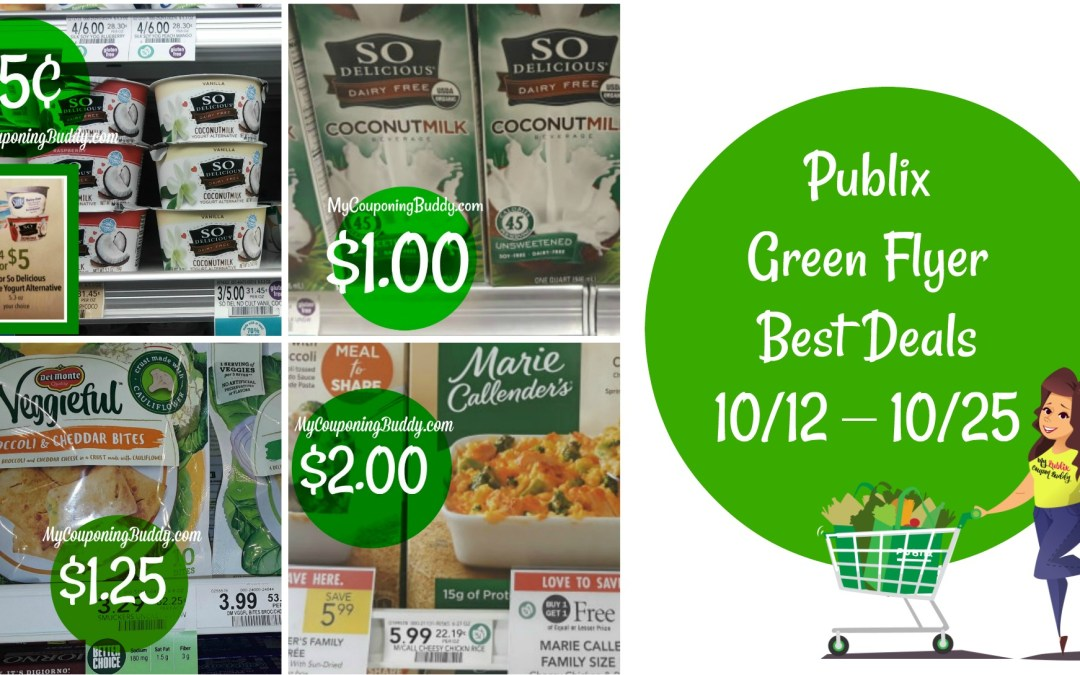 Publix Green Flyer Best Deals 10/12 – 10/25