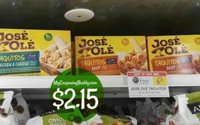 Jose Ole Taquitos $2.15 at Publix