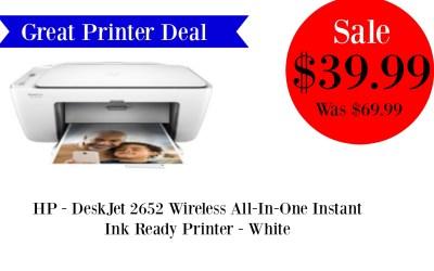 HOT Insta Ink Ready Printer Deal
