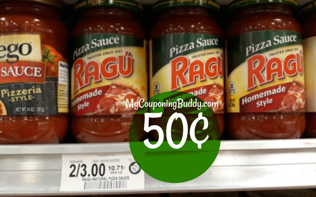 Ragu Pizza Sauce 50¢ at Publix
