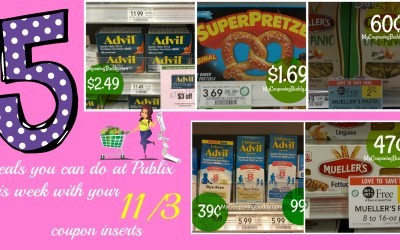 5 Deals you can do at Publix this week with your 11/3 coupon inserts