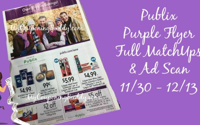 Publix Purple Flyer Full MatchUps & Ad Scan 11/30 – 12/13