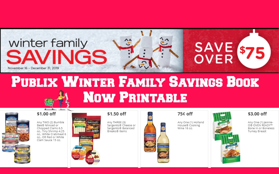 Publix Winter Family Savings Coupon Book ~ Now Printable
