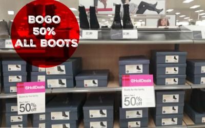 BOGO 50% off All Boots at Target!!