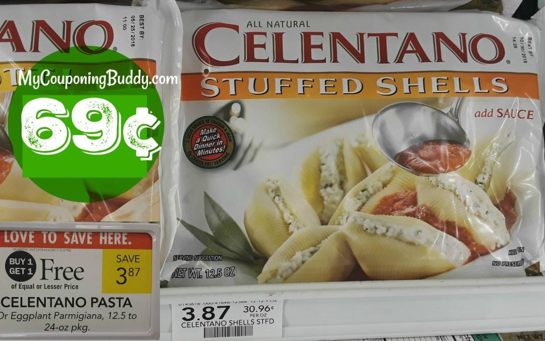 Celentano Pasta 69¢ at Publix