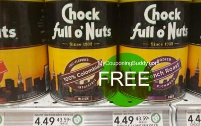 Chock Full O' Nuts FREE at Publix