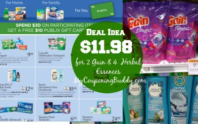 Deal Idea for P&G Gift Card Offer at Publix