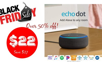 Echo Dot (3rd Gen) – Smart speaker with Alexa just $22