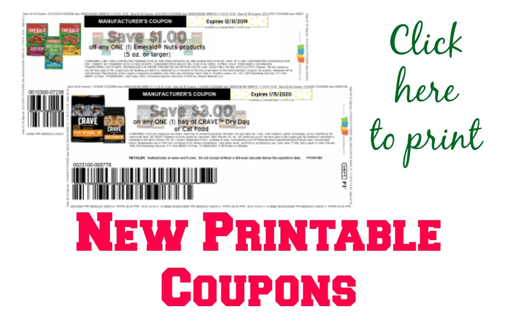 New Printable Coupons Crave Dog Food Emerald Nuts My Publix Coupon Buddy