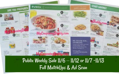 Full MatchUps & Ad Scan Publix Sneak Peek Publix Weekly Sale 11/6 – 11/12 or 11/7 -11/13