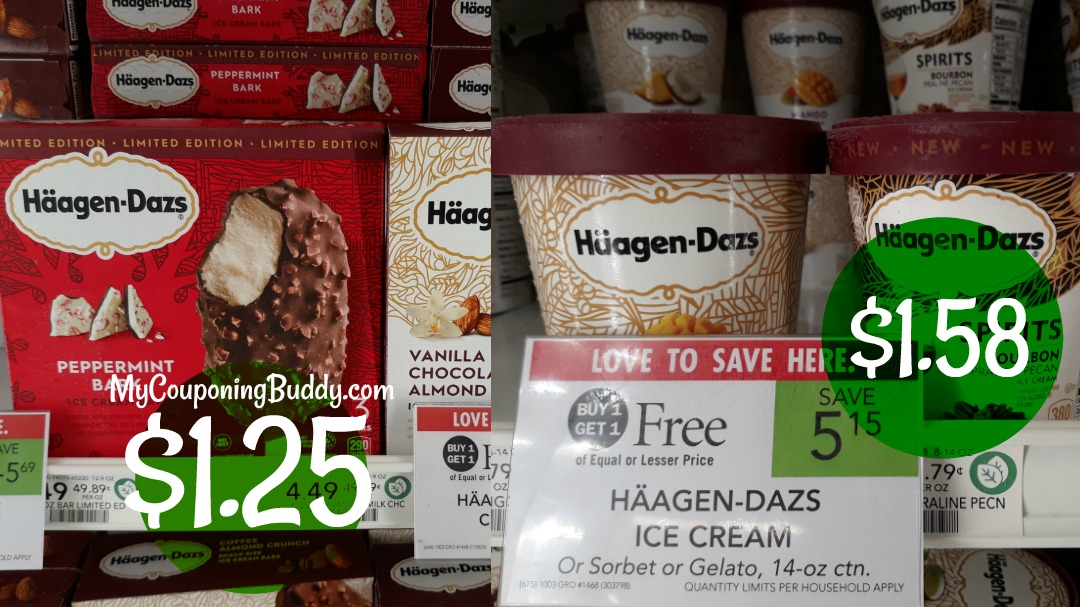 Häagen-Dazs Ice Cream Bars or Pints Publix Couponing Deal