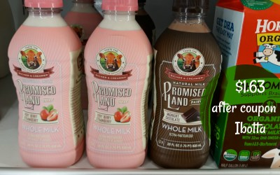 Promised Land Milk 28 oz. $1.63 ( after coupon & Ibotta)