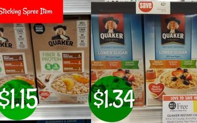 Coupon Reset! Quaker Oatmeal as low as $1.15 at Publix