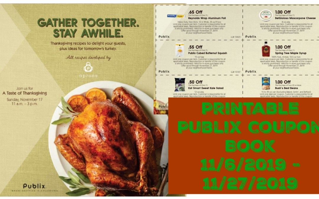 Gather Together Stay A While Publix Coupon Book 11/6/2019 – 11/27/2019