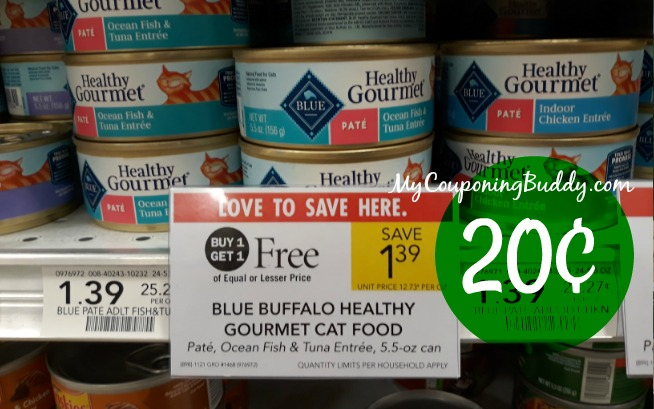 Blue Healthy Gourmet Wet Cat Food 20¢ at Publix