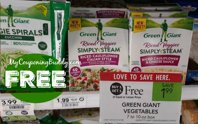 FREE Green Giant Vegetables at Publix