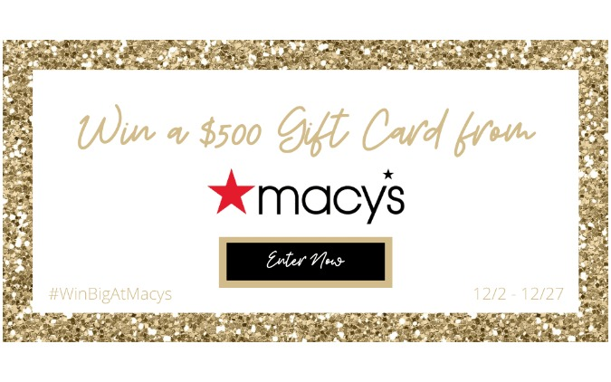 Macy's $500 Giftcard Giveaway