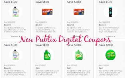 New Publix Digital Coupons to Clip