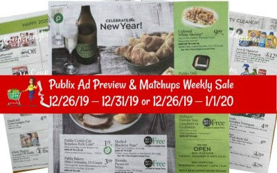 Publix Ad Preview 12/26/19 – 12/31/19 or 12/26/19 – 1/1/20 & Matchups