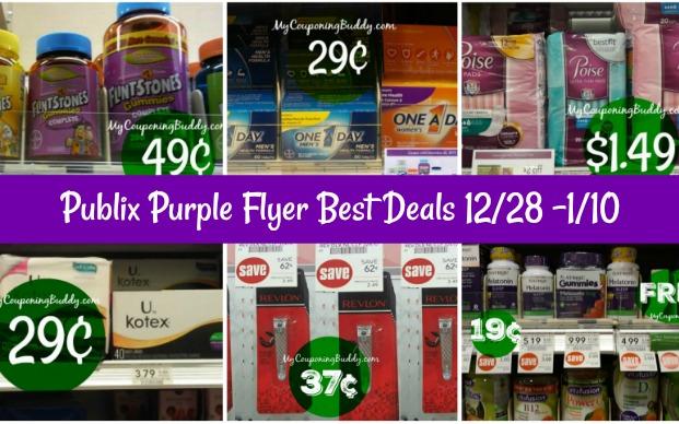 Publix Purple Flyer Best Deals 12/28 -1/10
