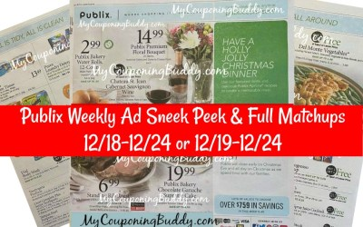 Publix Weekly Ad Preview & Coupon Matchups 12/18-12/24 or 12/19-12/24