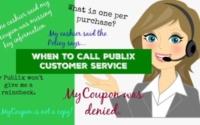 When to Call Publix Customer Service ~ Publix Couponing