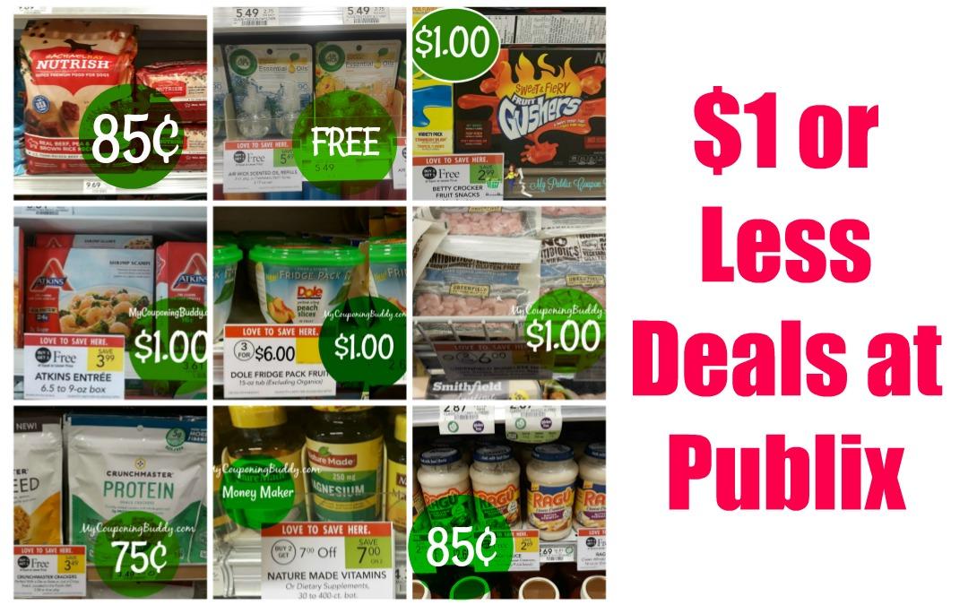 $1 or less Publix Deals now