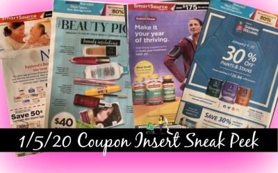 Sneak Peek 1/5/20 Coupon Inserts