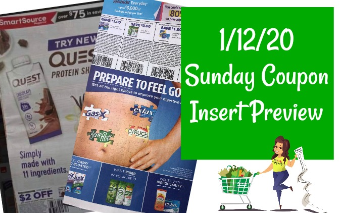Sunday Coupon Insert Preview 1/12/20