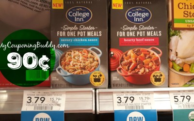 College Inn Simple Starters Sauce 90¢ at Publix
