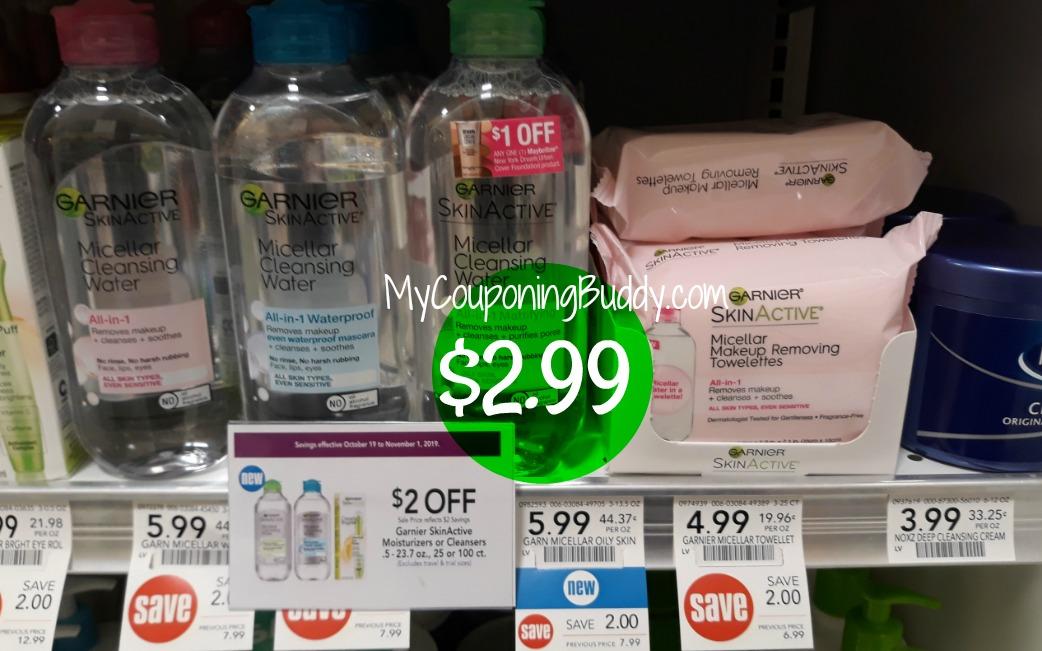 Garnier SkinActive Make-Up Removing Towelettes $2.99 at Publix