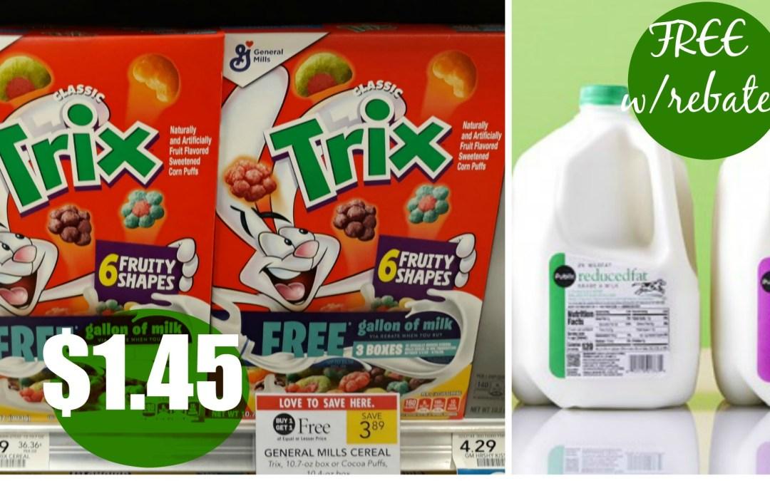 General Mills Cereal & Milk FREE at Publix