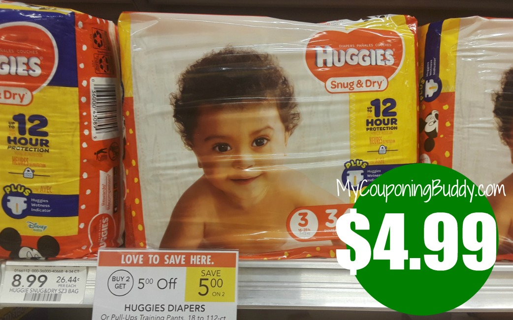 Huggies Diapers $4.99 at Publix