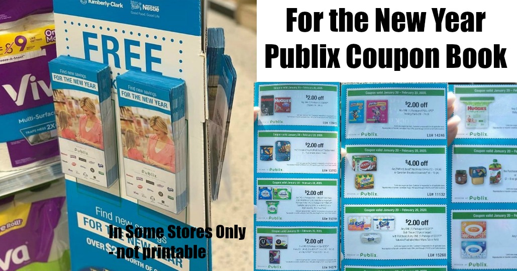 For the New Year March of Dimes Publix Coupon Book valid 1/20 - 2/20