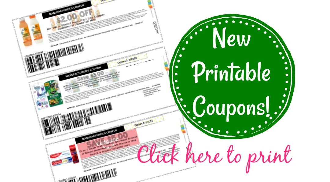 New Printable Coupons Colgate Garnier Shick