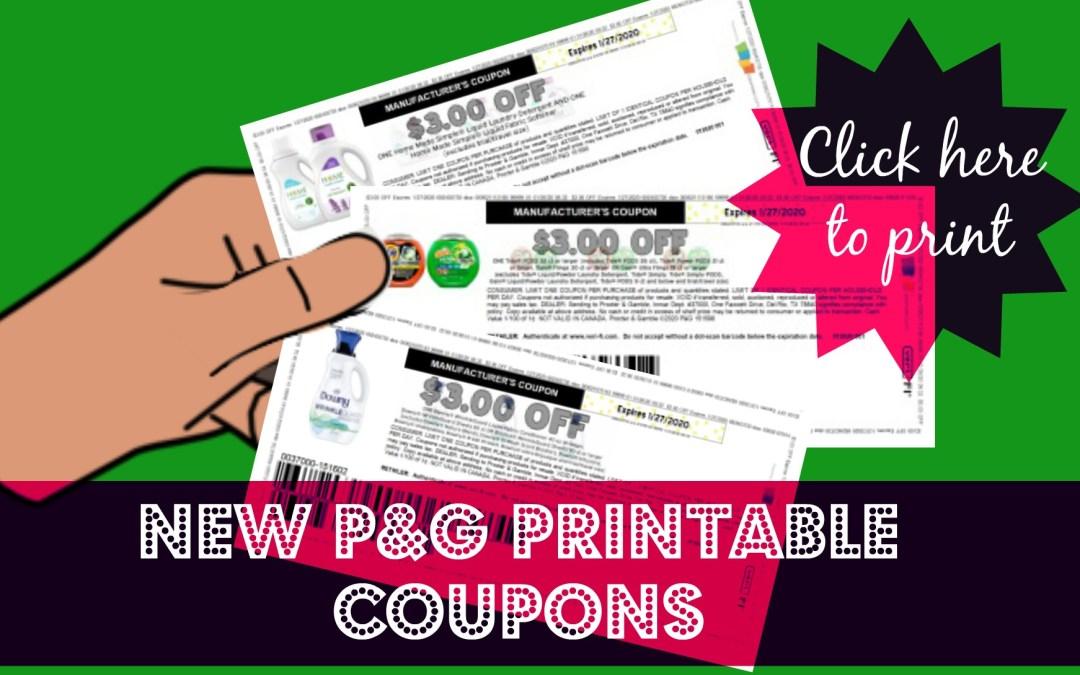 New P&G Printable Coupons!