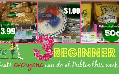 Beginner's Deals at Publix this Week (Weekly Sale 1/22-1/28 or 1/23-1/29)