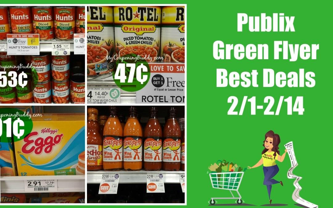 Publix Green Flyer Best Deals 2-1 thru 2-14